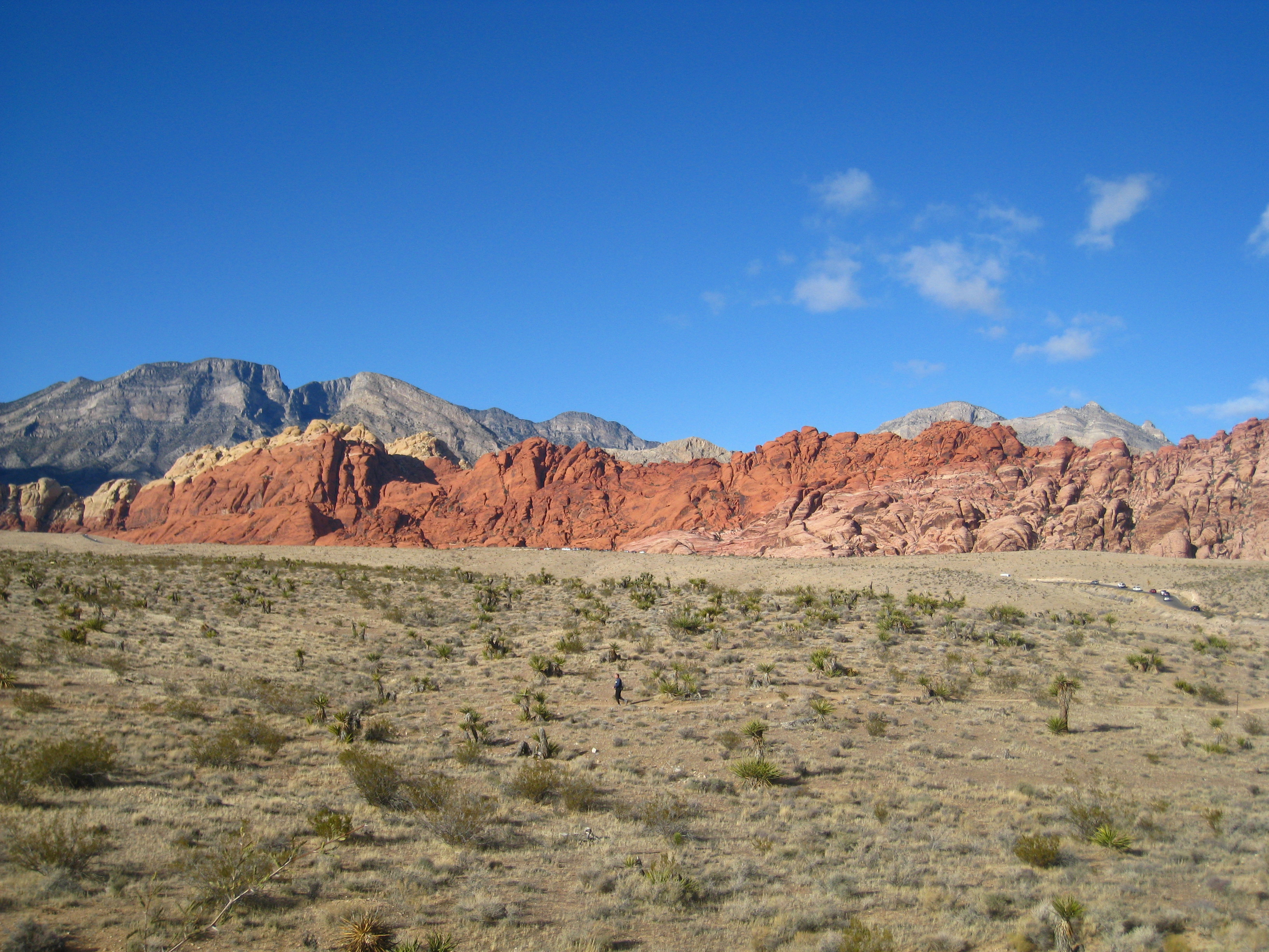 View of Red Rock Canyon from the highway