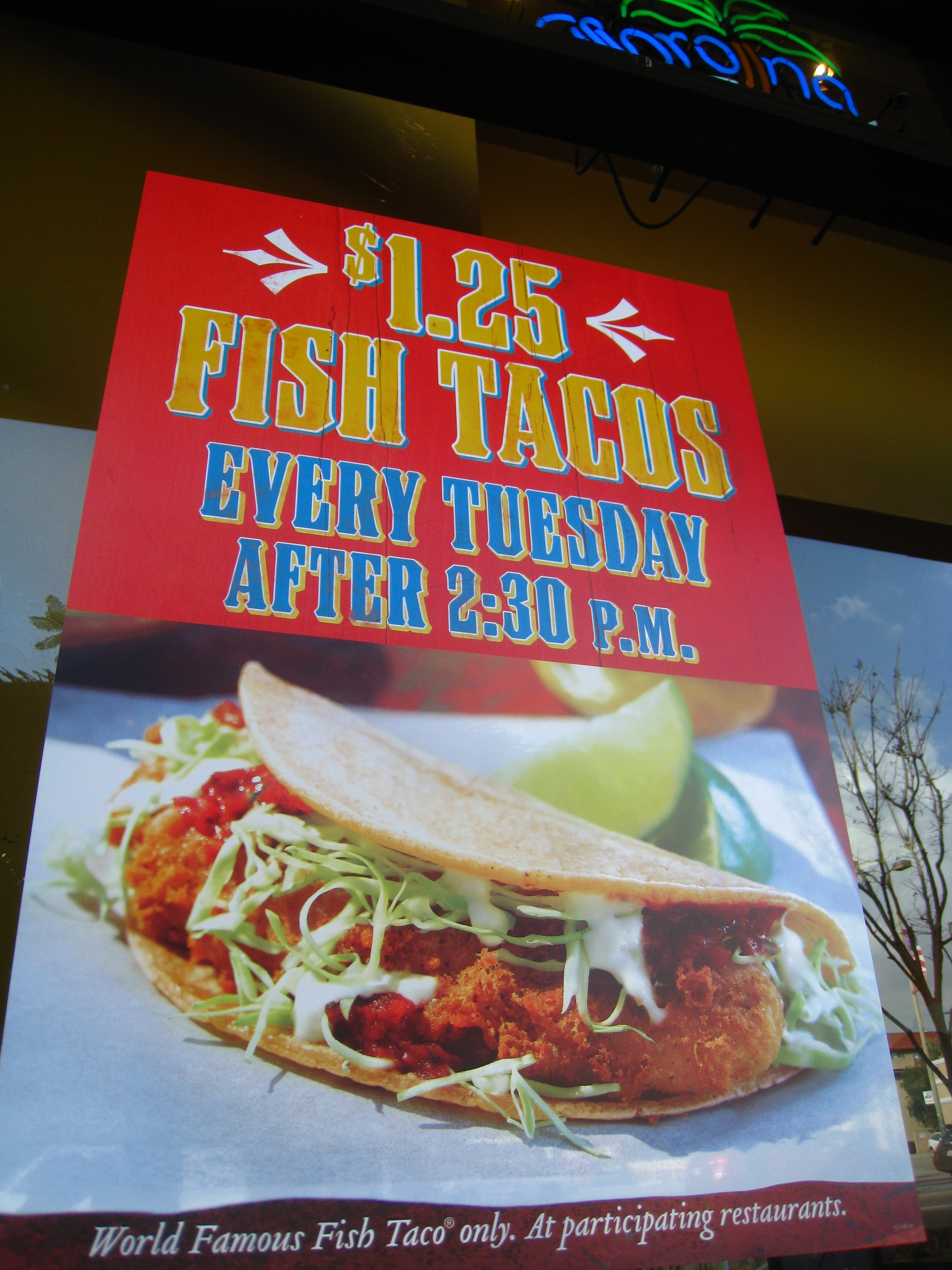 Best fish tacos in los angeles for Rubios fish taco tuesday