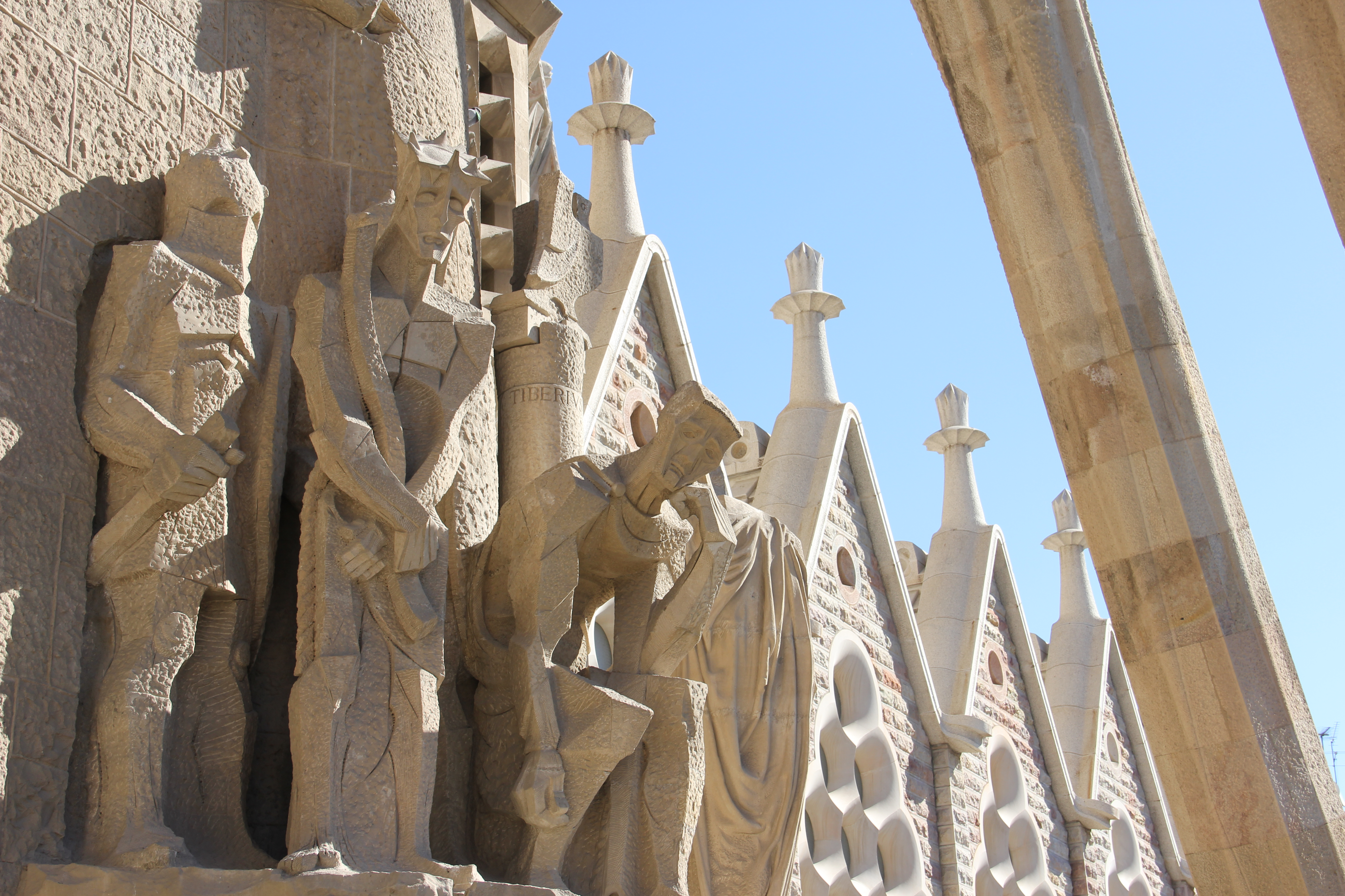 Outside La Sagrada Familia in Photos