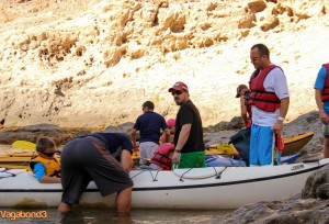 Father and Son Getting into Boat - Vagabond3