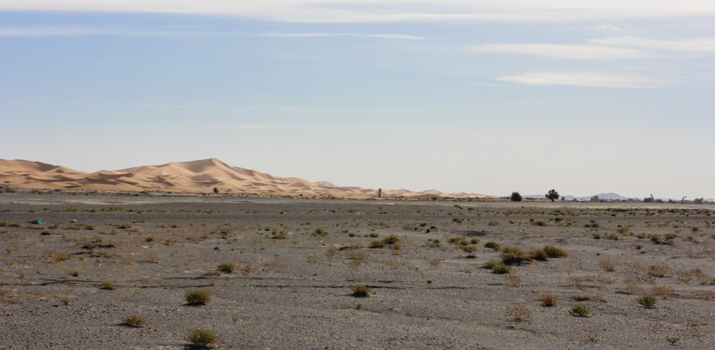 Sahara Desert Dunes in the Distance - Morocco
