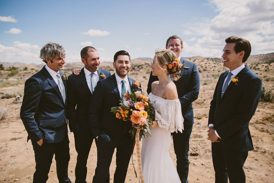 Bob looking so handsome with the other groomsmen. photo by Westlund Photography