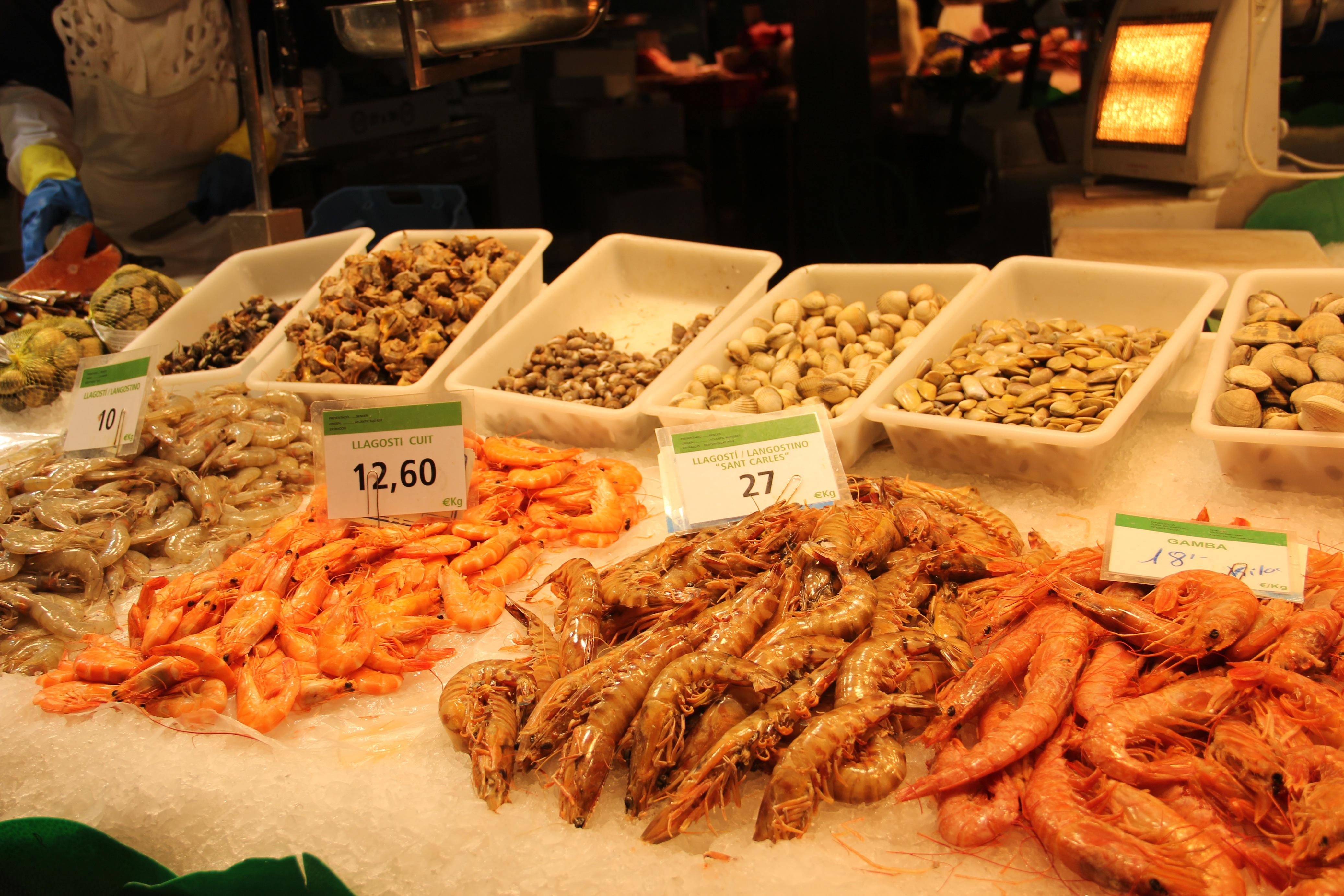 Barcelona market la boqueria for La fish market