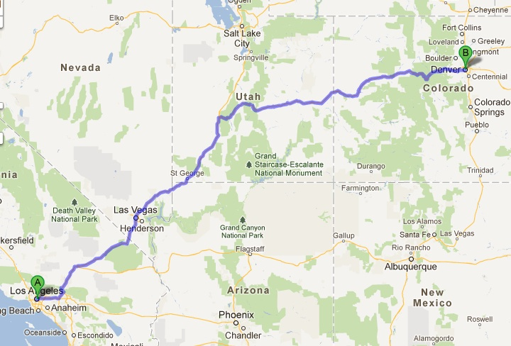 Road Trip from Los Angeles to Colorado