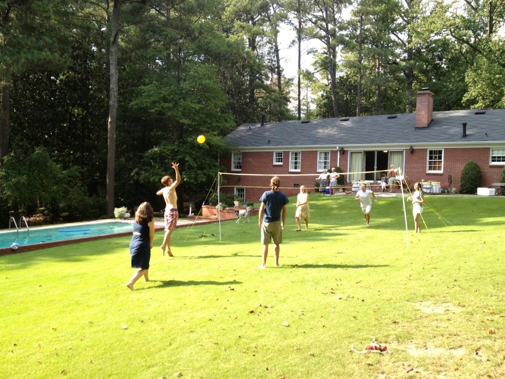 backyard volleyball photo