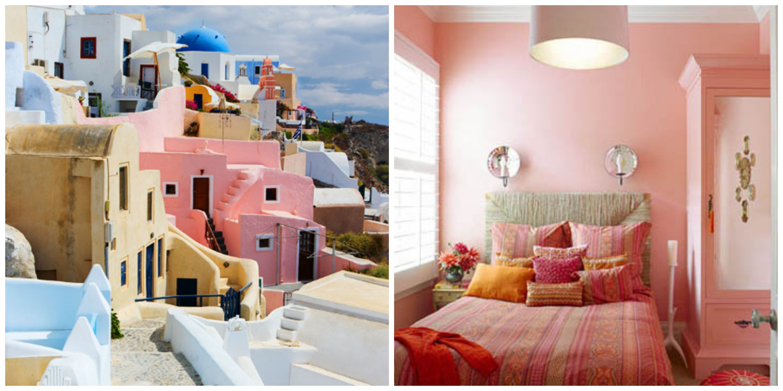 pink bedroom Collage. Travel Design  Interior Design by Travel Inspiration