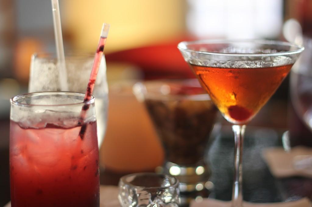 Drinks at Bona Vista Lounge at Westin's Bonaventure Hotel