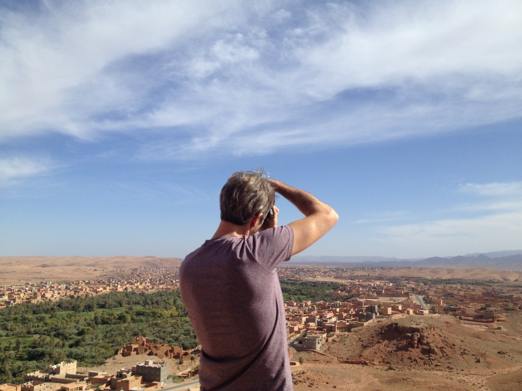 bob taking picture in Morocco