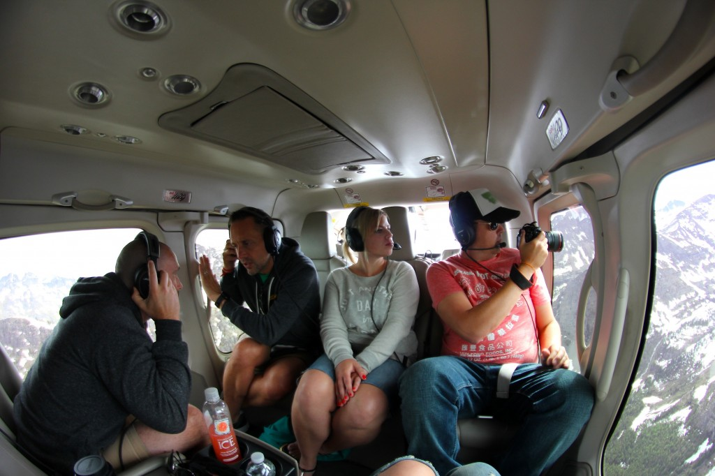 During the Helicopter tour over Glacier National Park