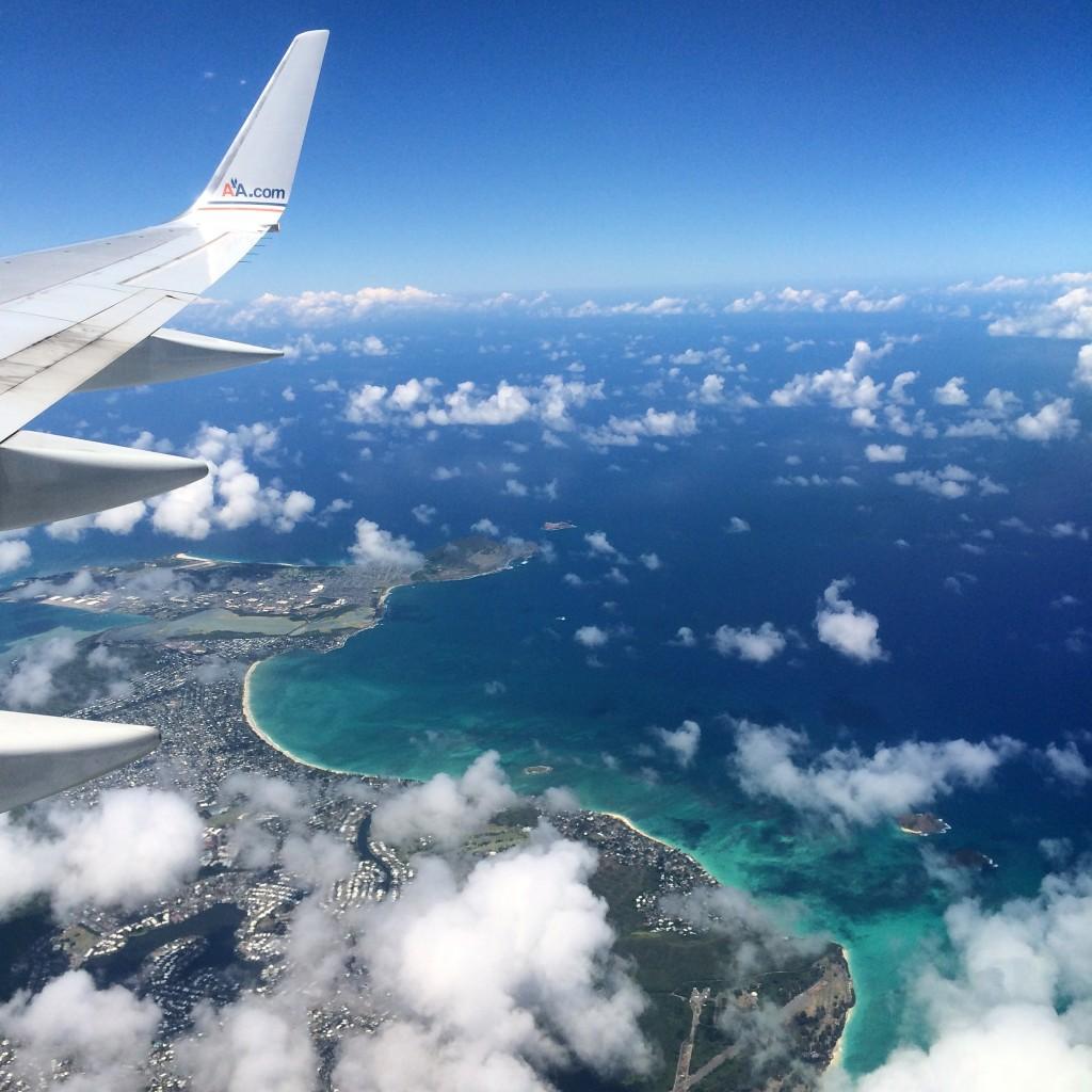 Flying to Oahu, Hawaii