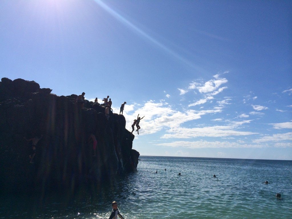Oahu cliff jump