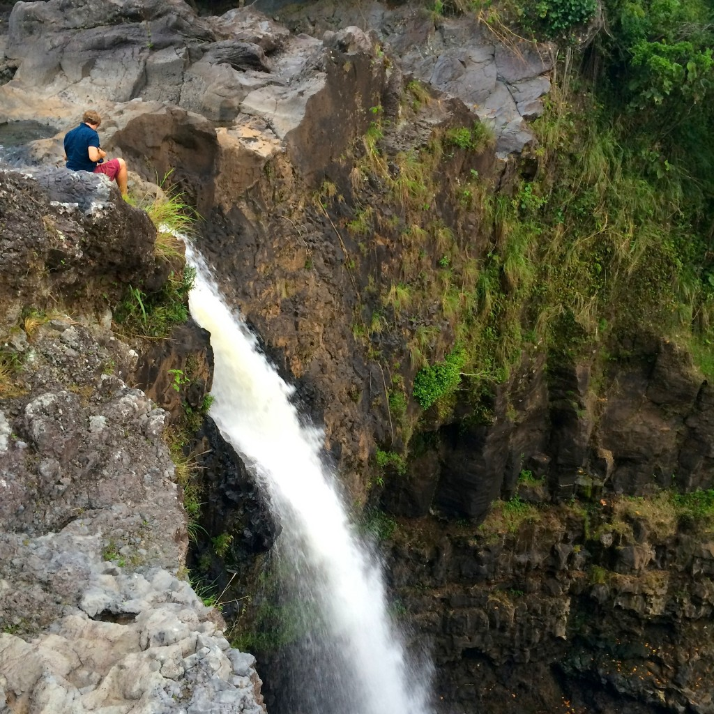 waterfall in Big Island Hawaii