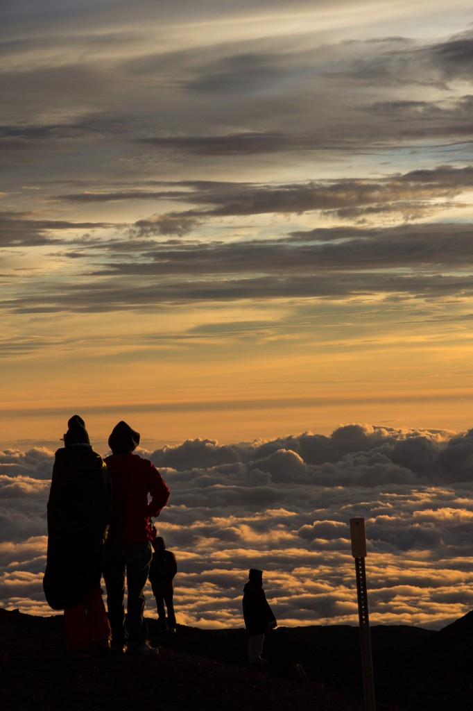 Mauna Kea Sunset People Standing