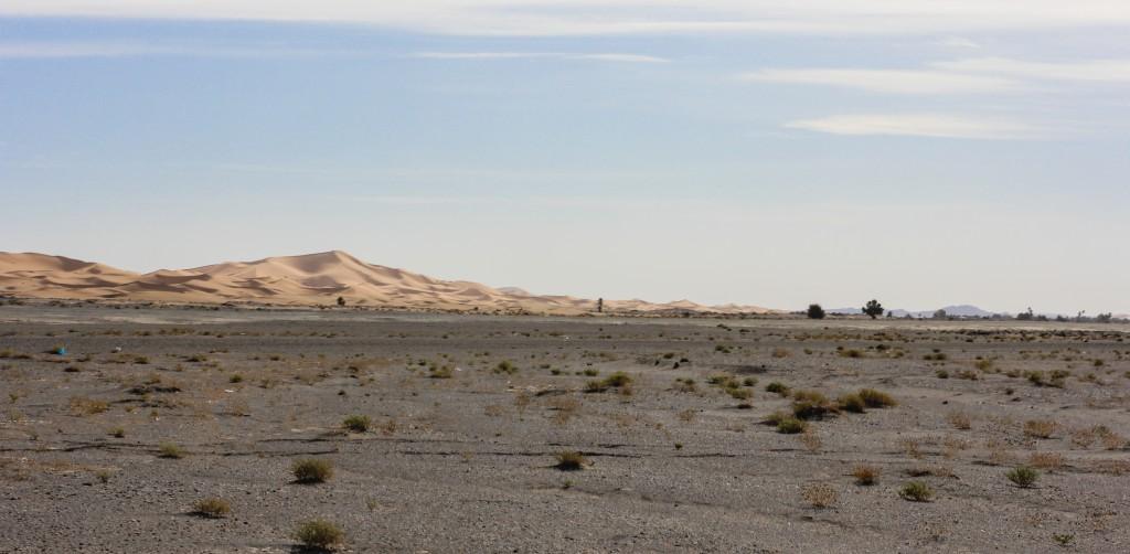 Sahara Desert Dunes in the Distance - Morocco