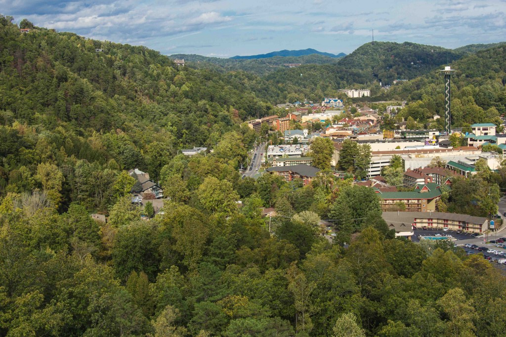 gatlinburg from smokey mountains