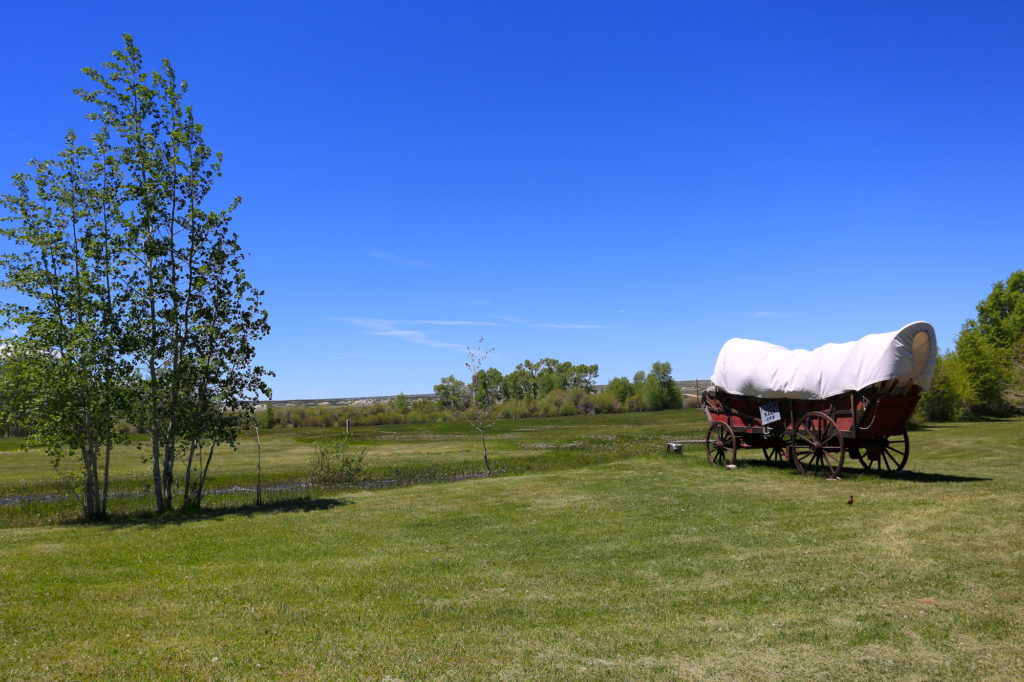 fort bridger covered wagon