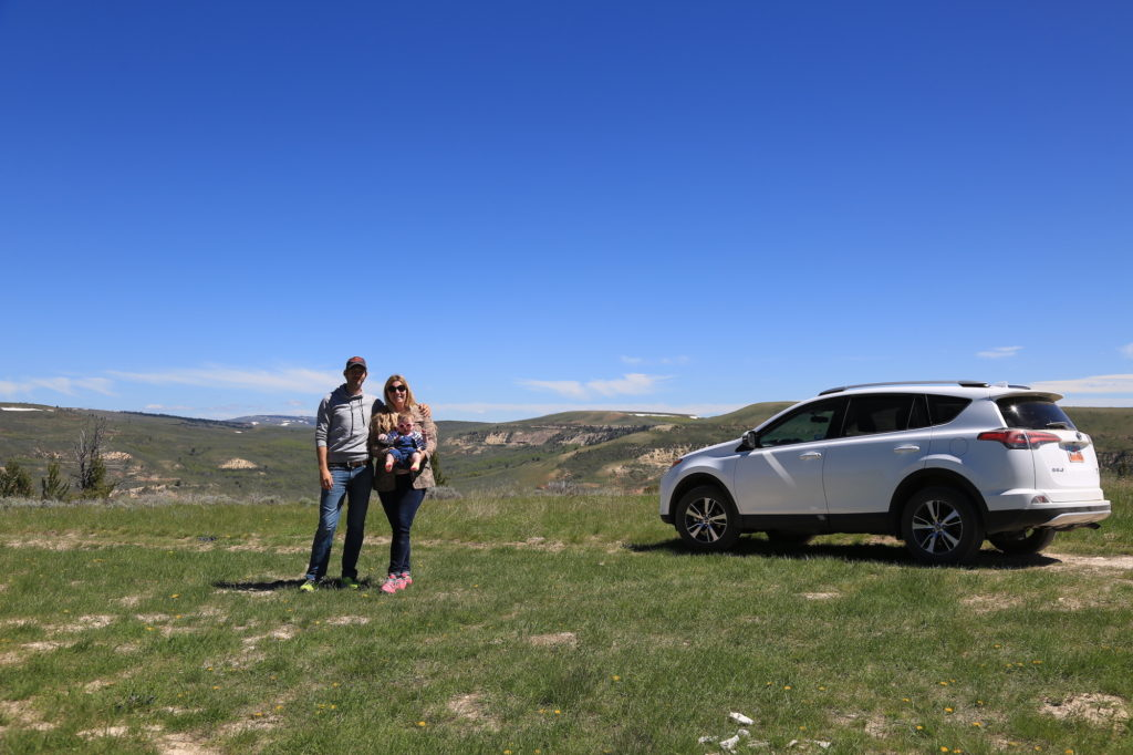 top of fossil butte - car shot